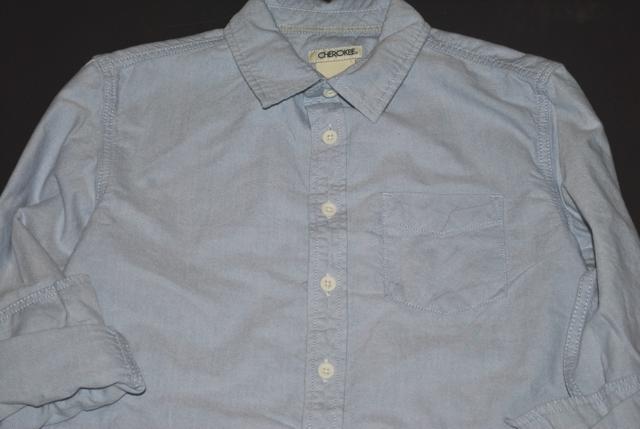 Betsy Crocker: DIY Embellished Chambray Shirt